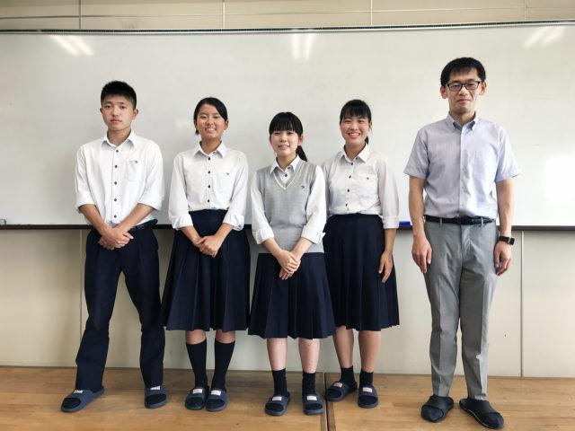 左から:松田 玄道さん、後藤 結衣さん、中本 和夏さん、東浦 初那さん、河野翔太先生
